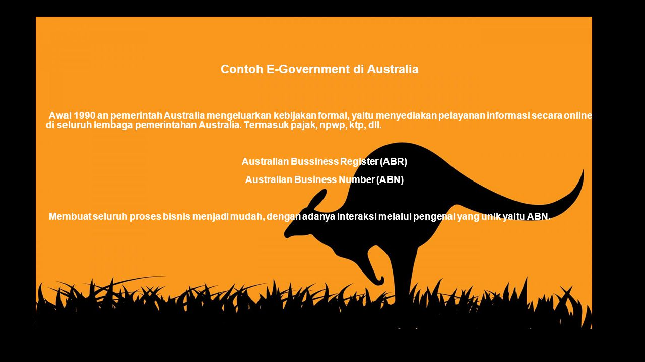 Contoh E-Government di Australia