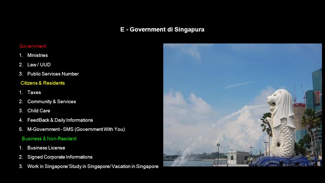 E - Government di Singapura