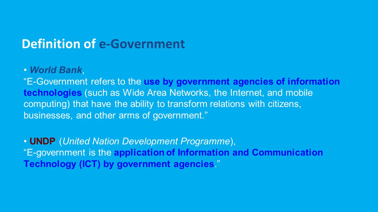 Definition of e-Government