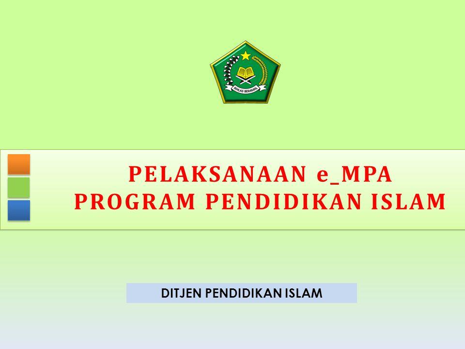 PROGRAM PENDIDIKAN ISLAM DITJEN PENDIDIKAN ISLAM