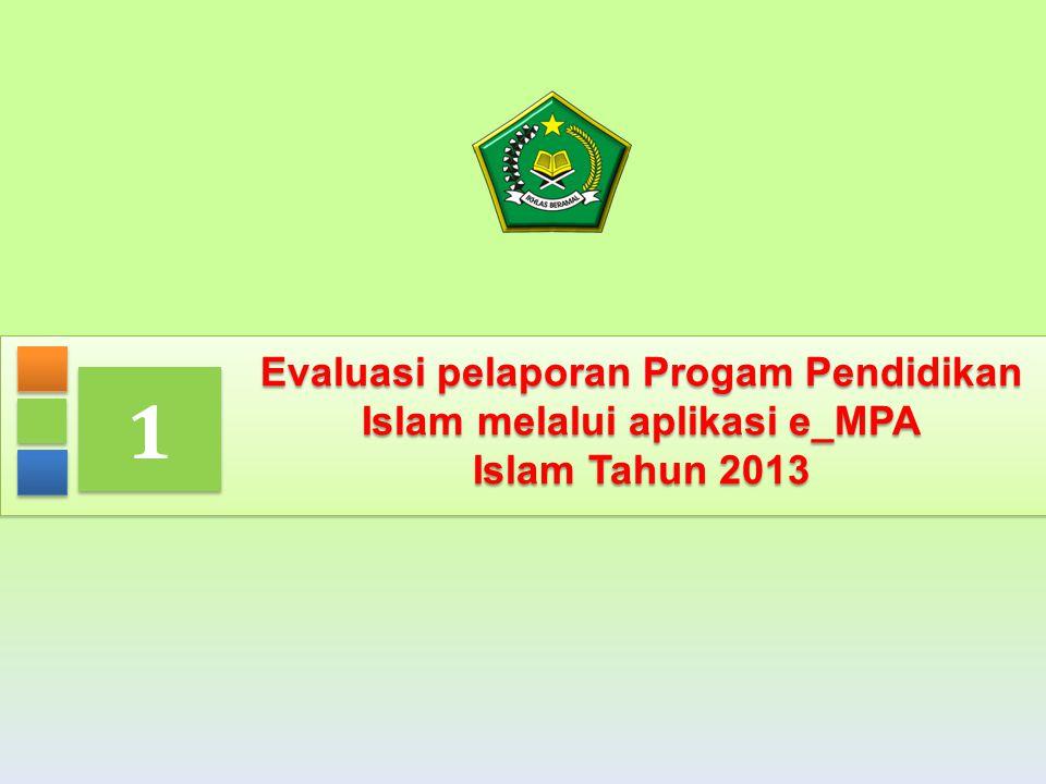 Evaluasi pelaporan Progam Pendidikan Islam melalui aplikasi e_MPA