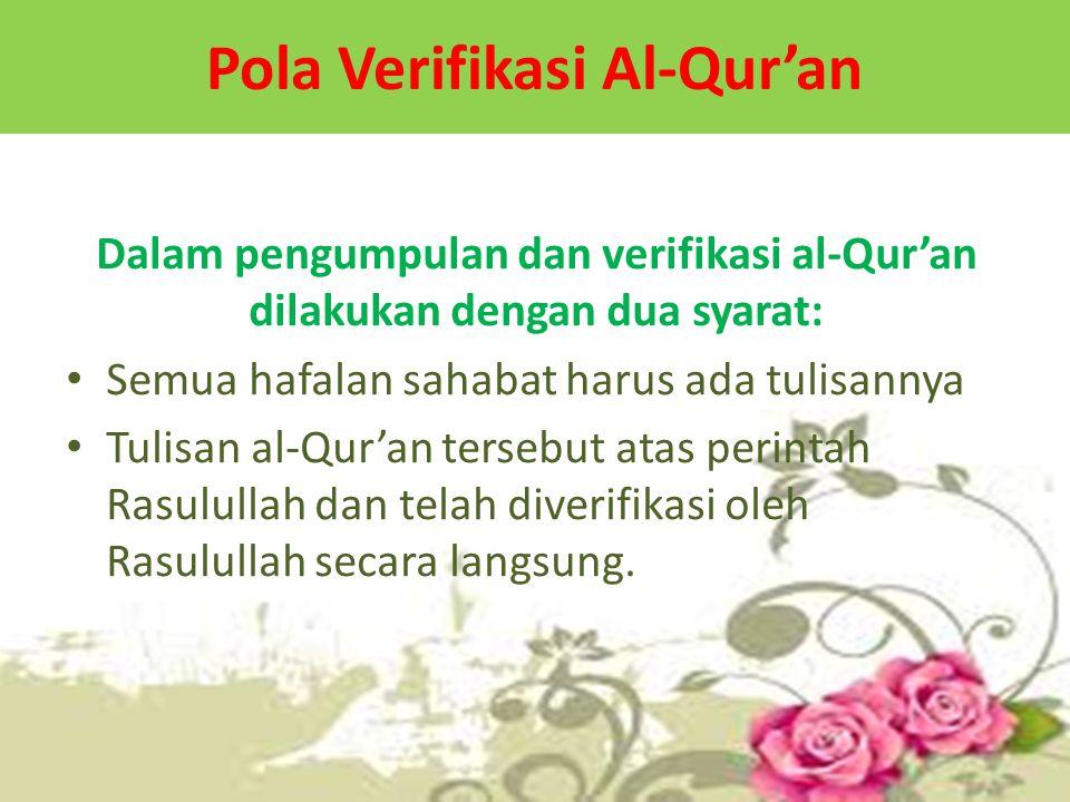 Pola Verifikasi Al-Qur'an