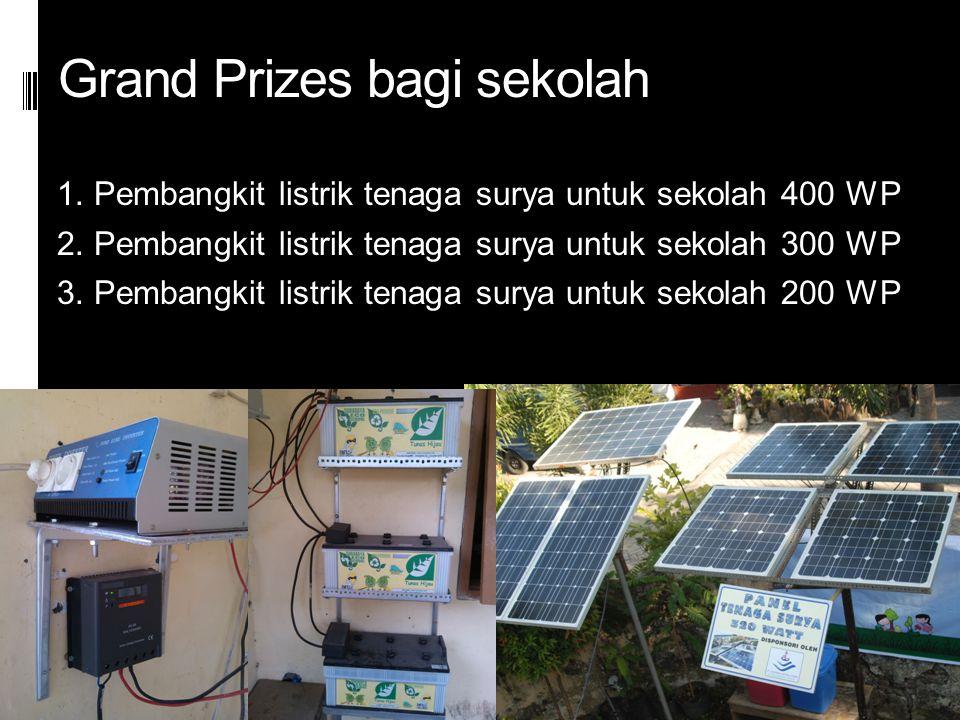 Grand Prizes bagi sekolah