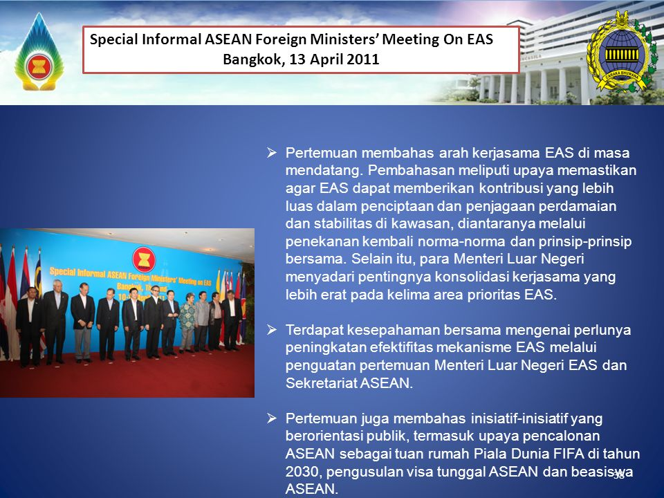 Special Informal ASEAN Foreign Ministers' Meeting On EAS