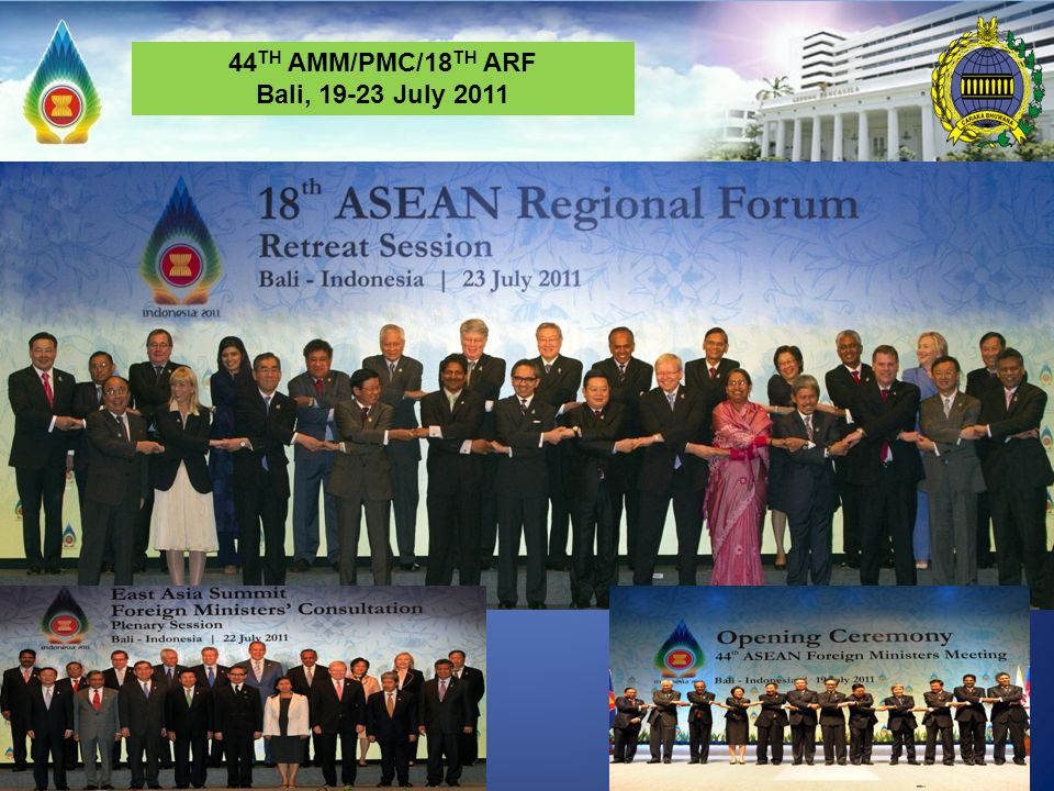 44TH AMM/PMC/18TH ARF Bali, 19-23 July 2011