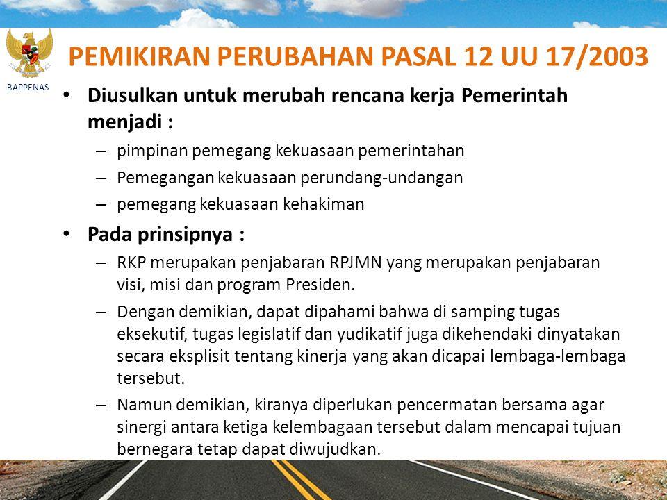 PEMIKIRAN PERUBAHAN PASAL 12 UU 17/2003