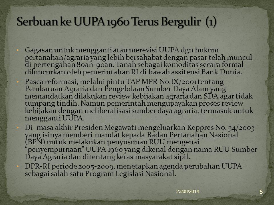 Serbuan ke UUPA 1960 Terus Bergulir (1)