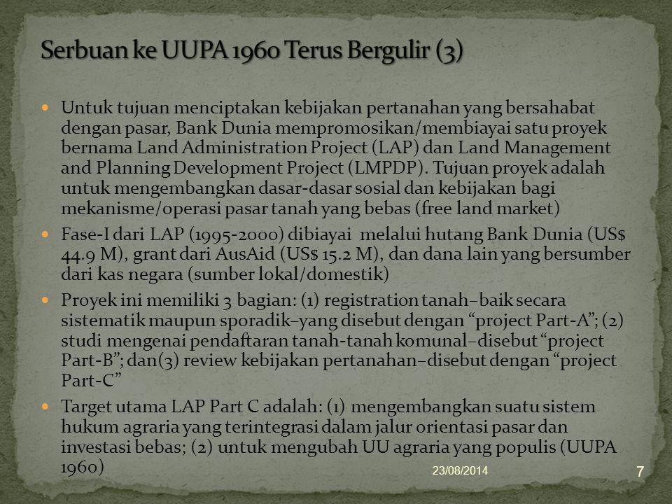 Serbuan ke UUPA 1960 Terus Bergulir (3)