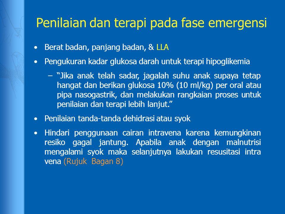 Penilaian dan terapi pada fase emergensi