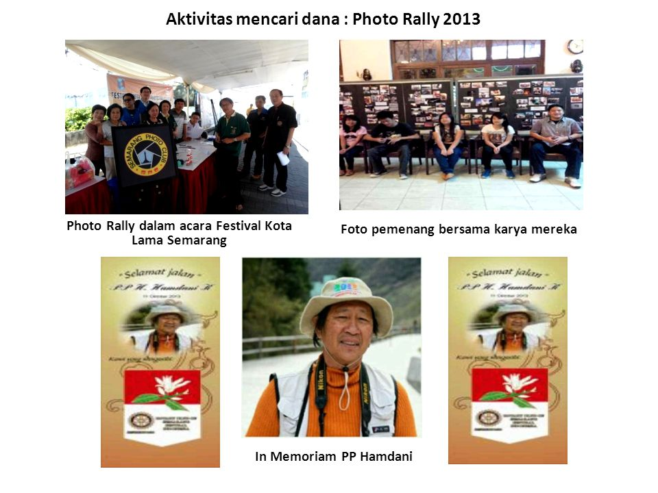 Aktivitas mencari dana : Photo Rally 2013