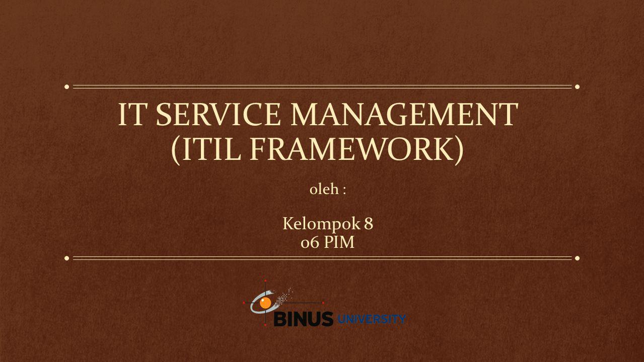 IT Service Management (ITIL Framework)