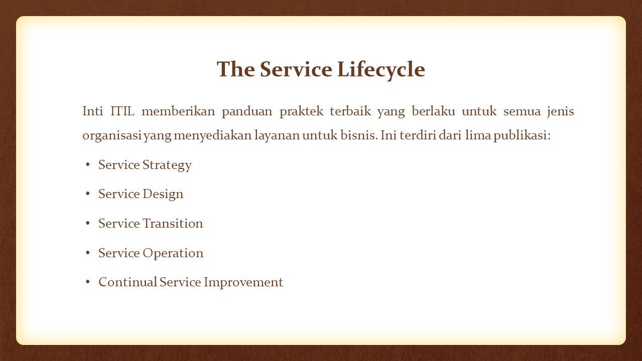 The Service Lifecycle