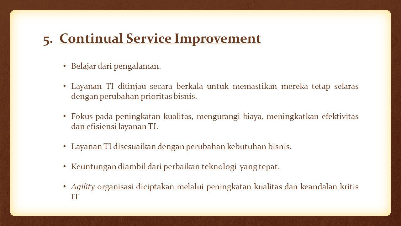 5. Continual Service Improvement