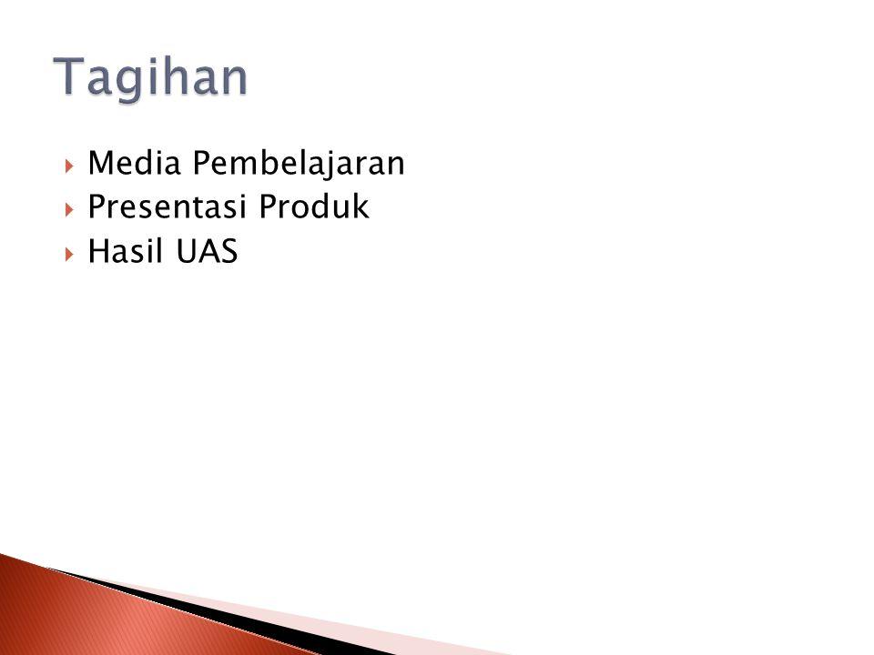 Tagihan Media Pembelajaran Presentasi Produk Hasil UAS
