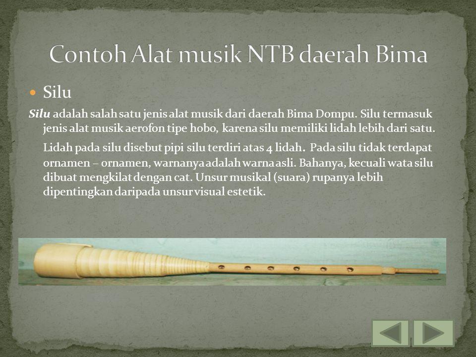 Contoh Alat musik NTB daerah Bima