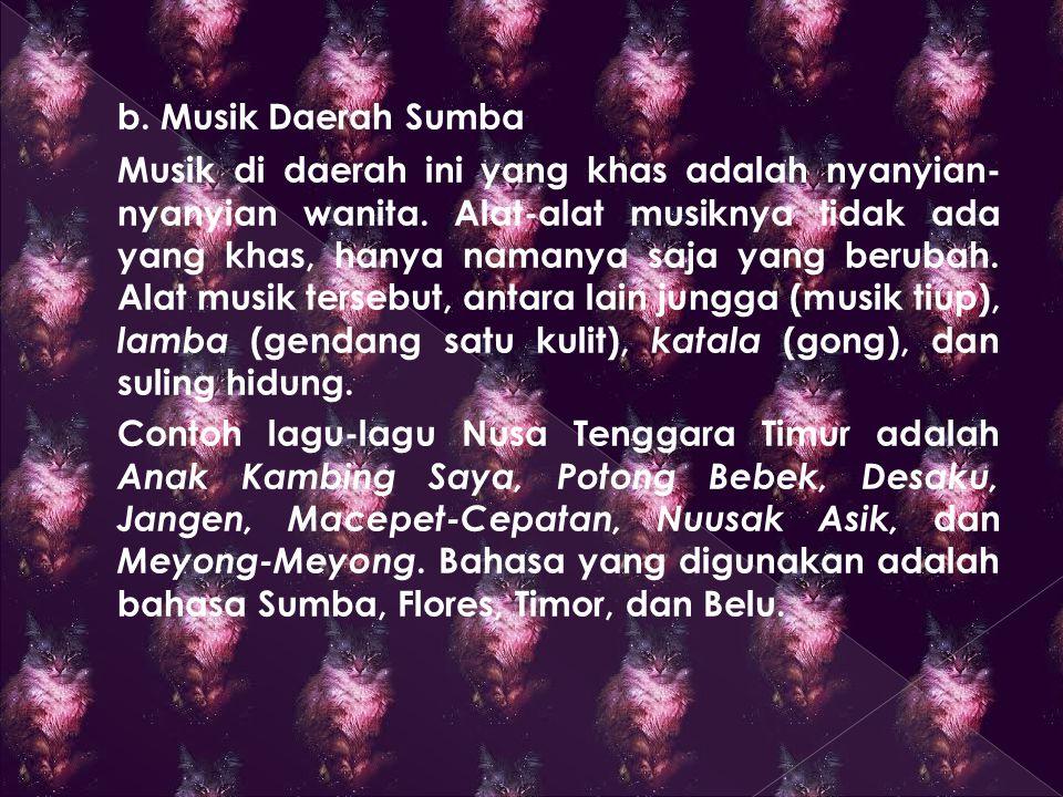 b. Musik Daerah Sumba
