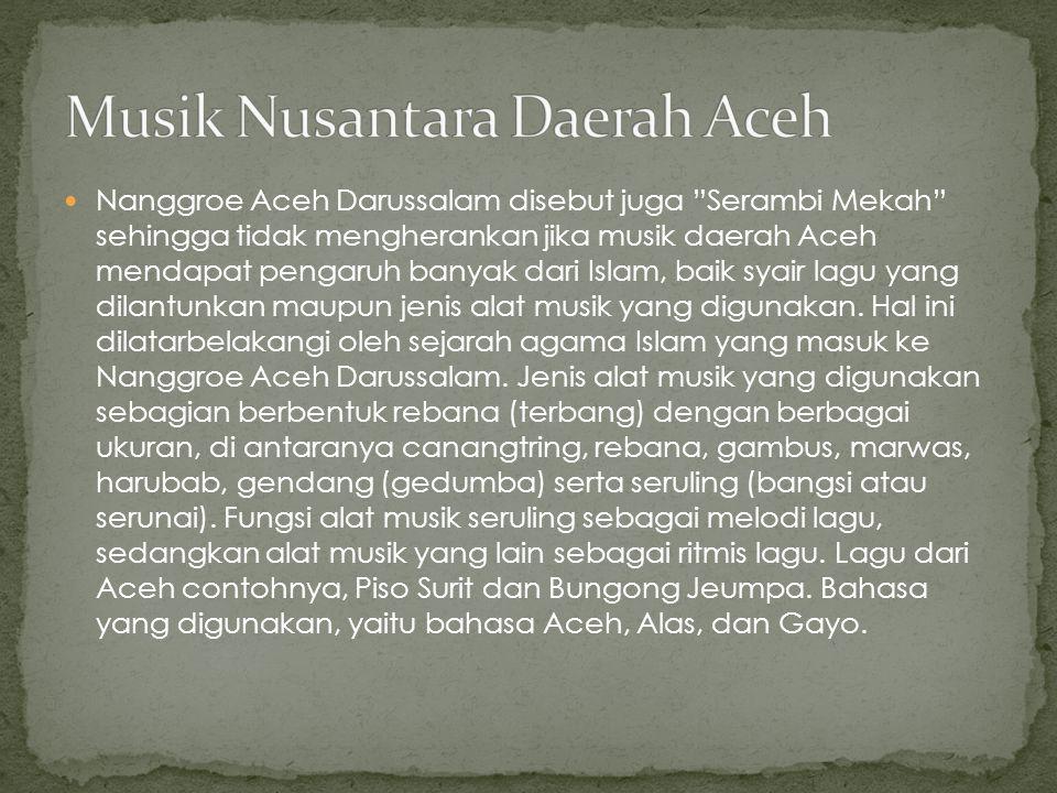 Musik Nusantara Daerah Aceh