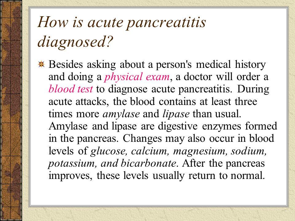 How is acute pancreatitis diagnosed