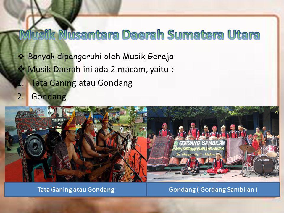 Musik Nusantara Daerah Sumatera Utara