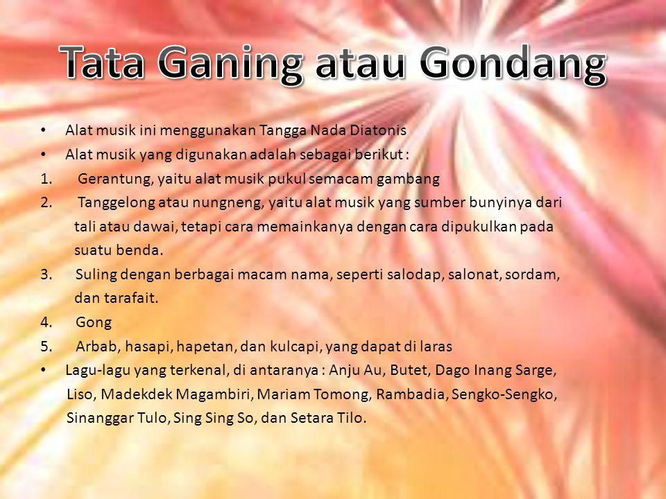 Tata Ganing atau Gondang