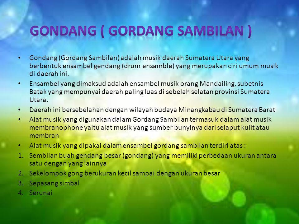 Gondang ( Gordang Sambilan )
