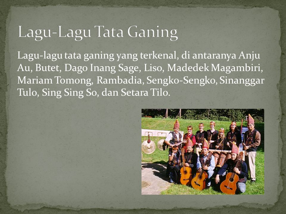 Lagu-Lagu Tata Ganing