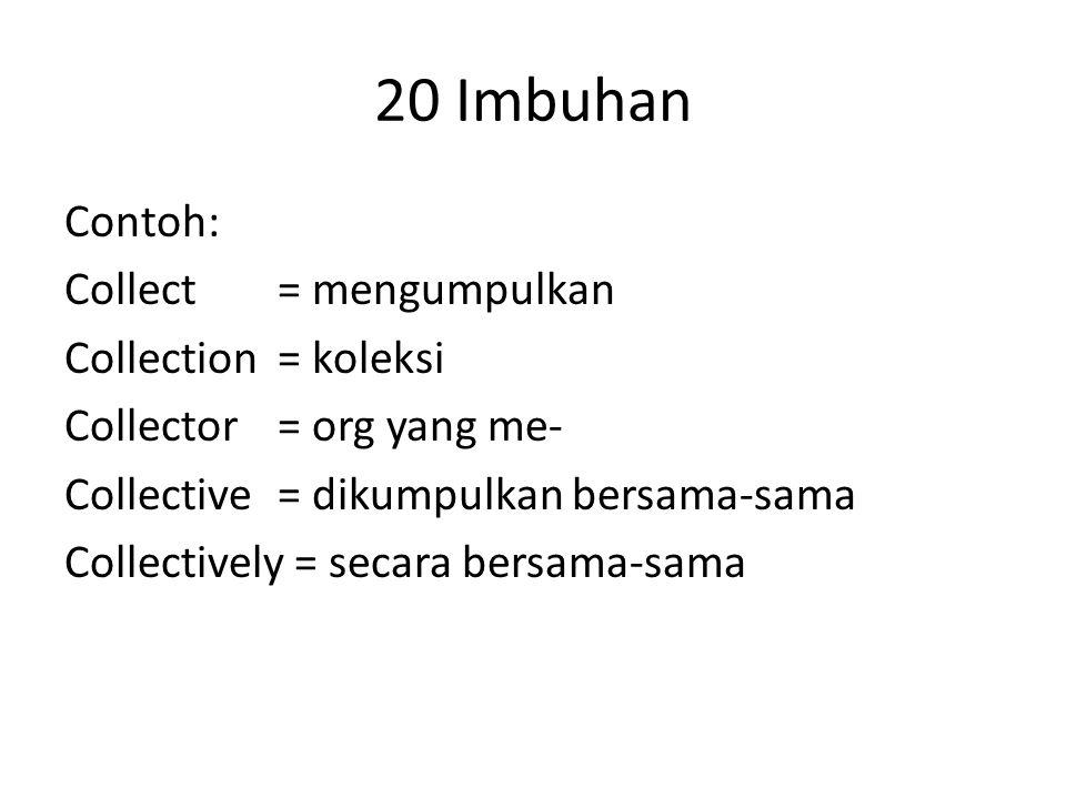 20 Imbuhan