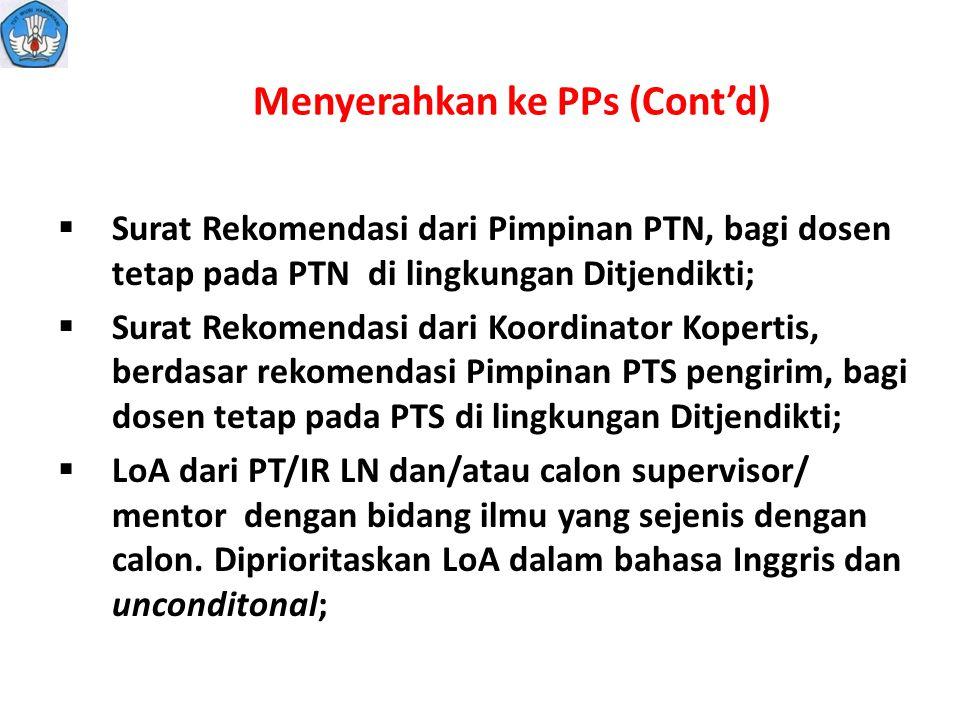 Menyerahkan ke PPs (Cont'd)