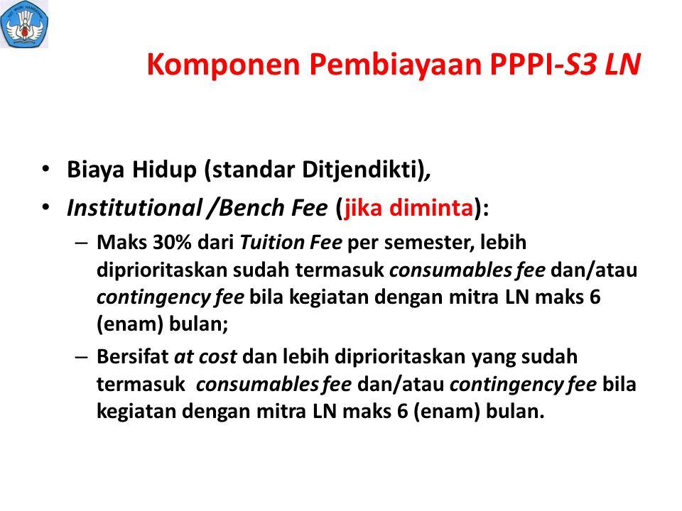 Komponen Pembiayaan PPPI-S3 LN
