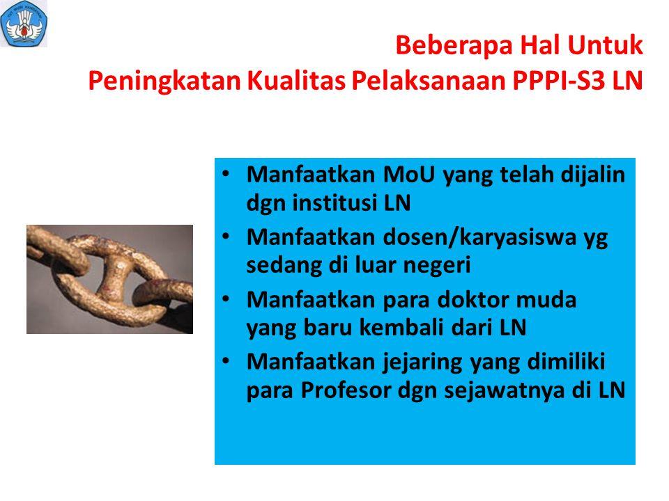Beberapa Hal Untuk Peningkatan Kualitas Pelaksanaan PPPI-S3 LN