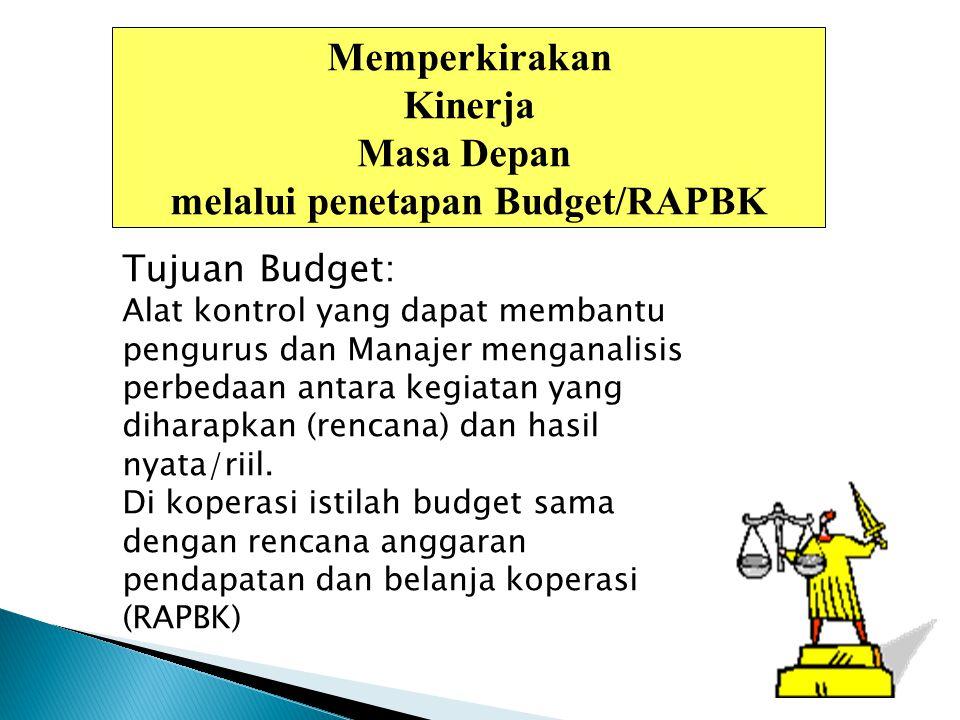 melalui penetapan Budget/RAPBK