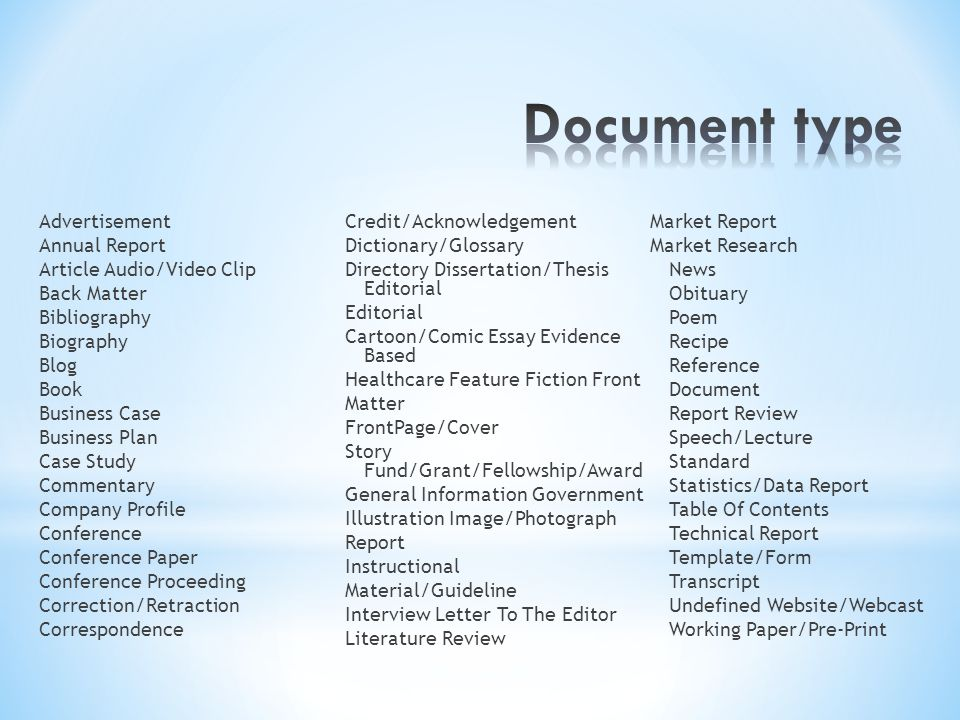 Document type