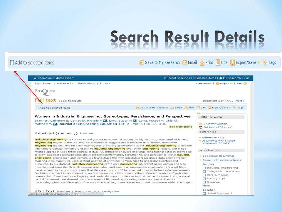 Search Result Details