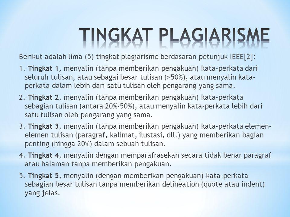 TINGKAT PLAGIARISME