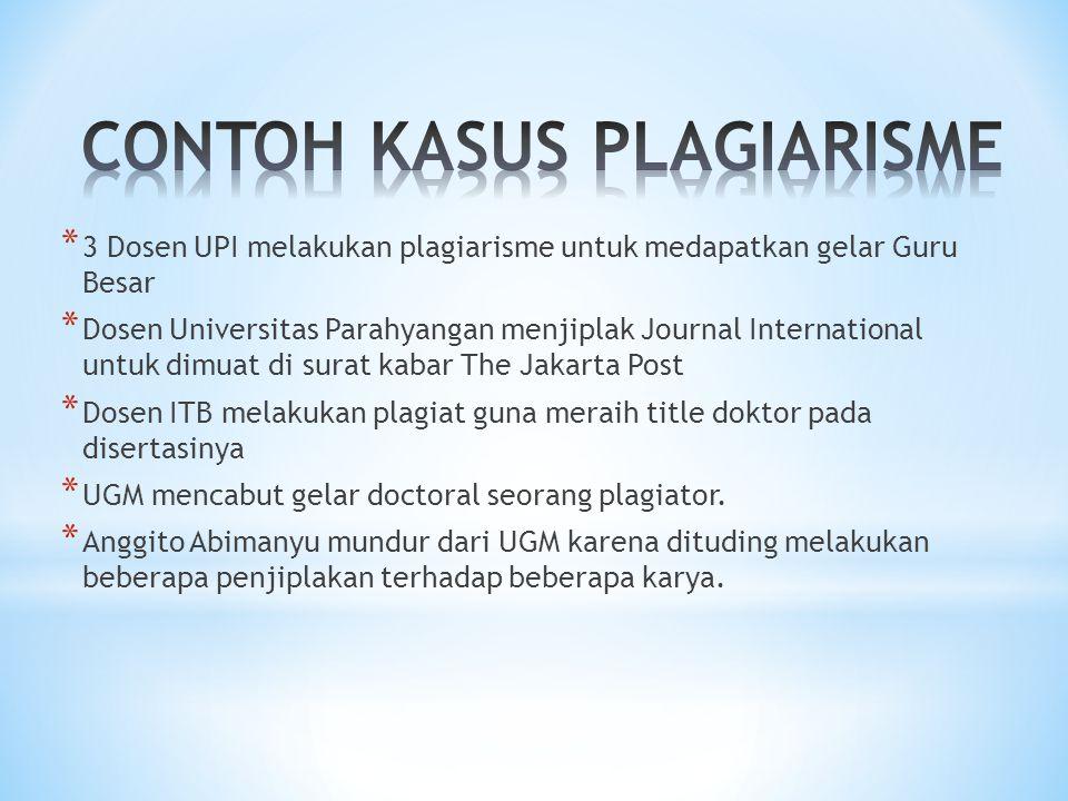 CONTOH KASUS PLAGIARISME