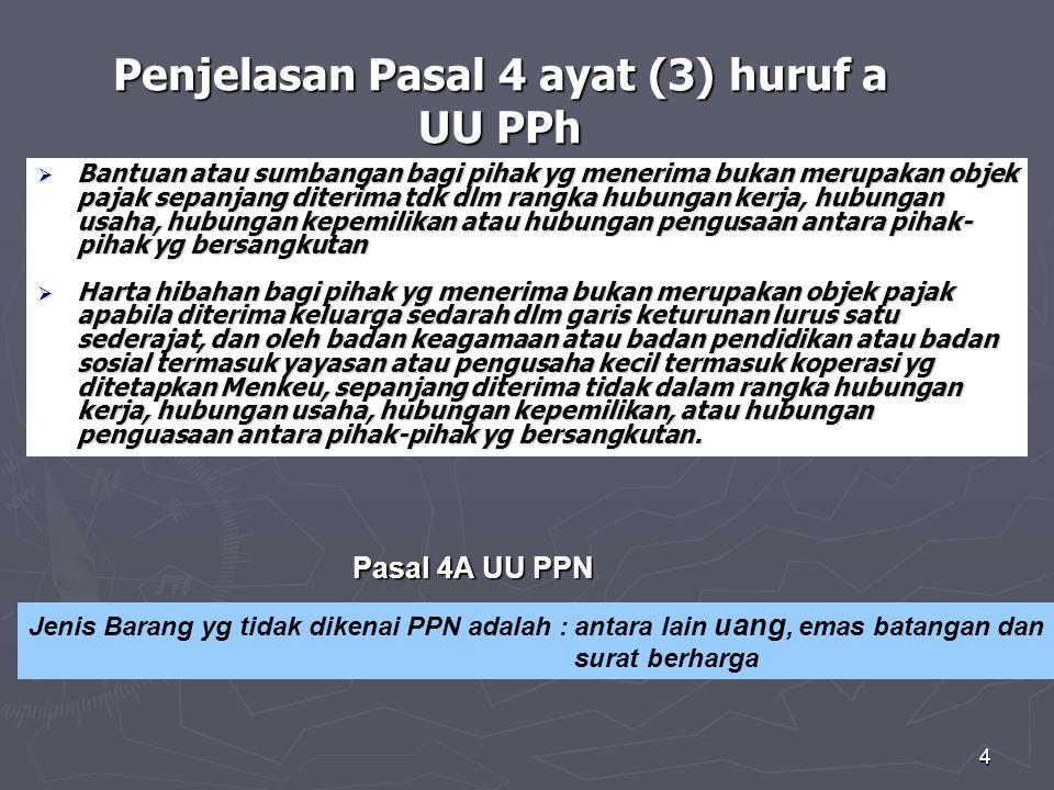 Penjelasan Pasal 4 ayat (3) huruf a UU PPh