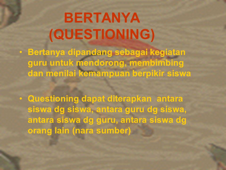 BERTANYA (QUESTIONING)