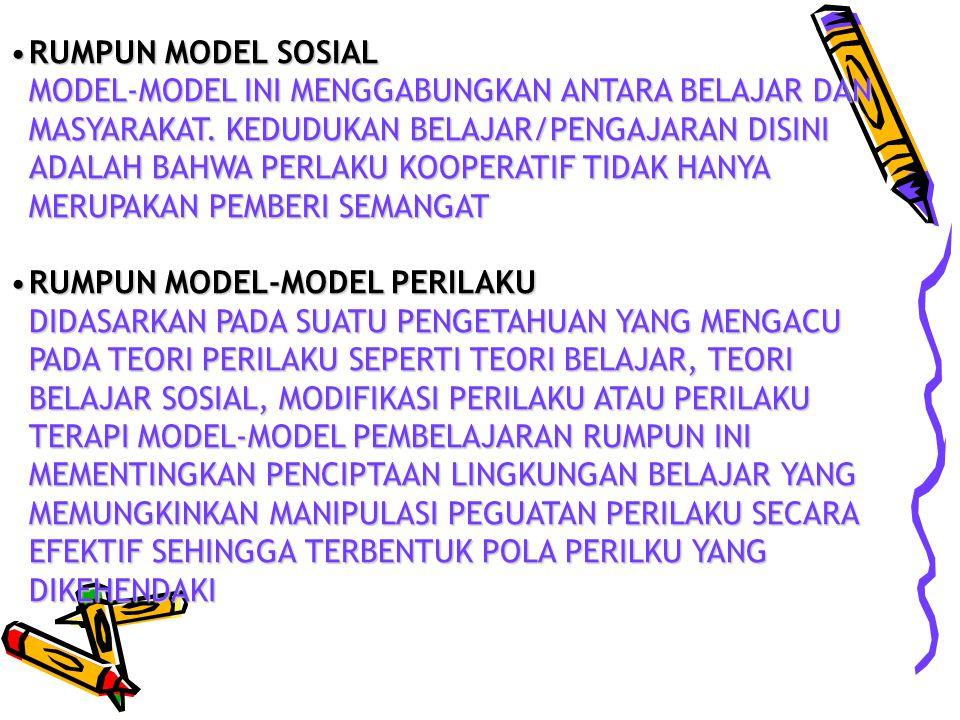 RUMPUN MODEL SOSIAL