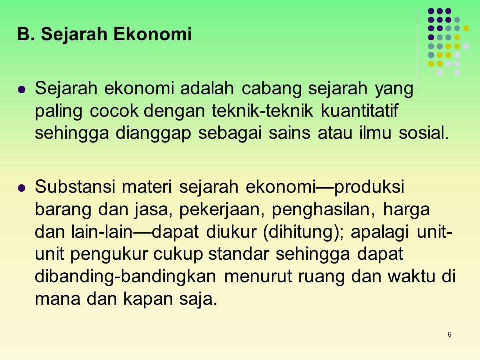 B. Sejarah Ekonomi