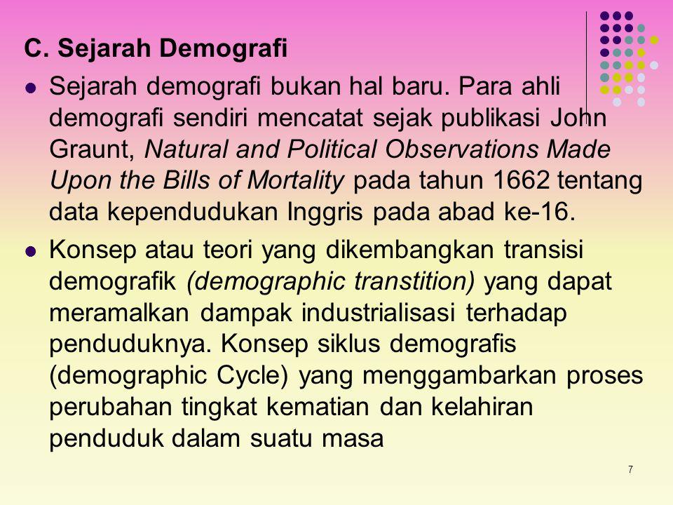 C. Sejarah Demografi