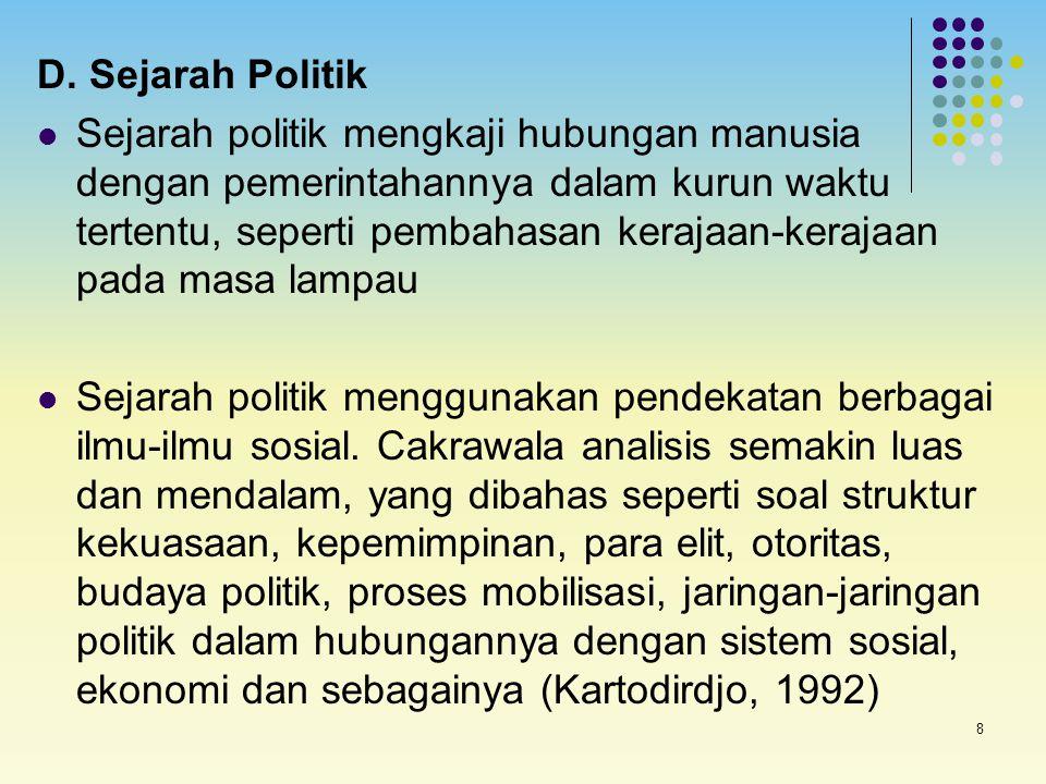D. Sejarah Politik