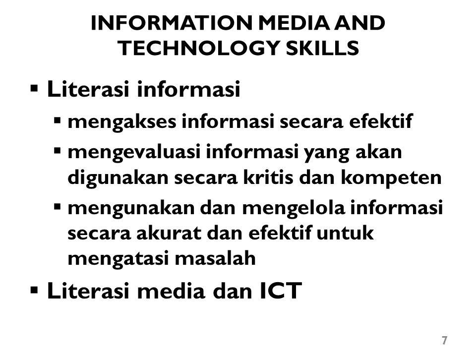INFORMATION MEDIA AND TECHNOLOGY SKILLS