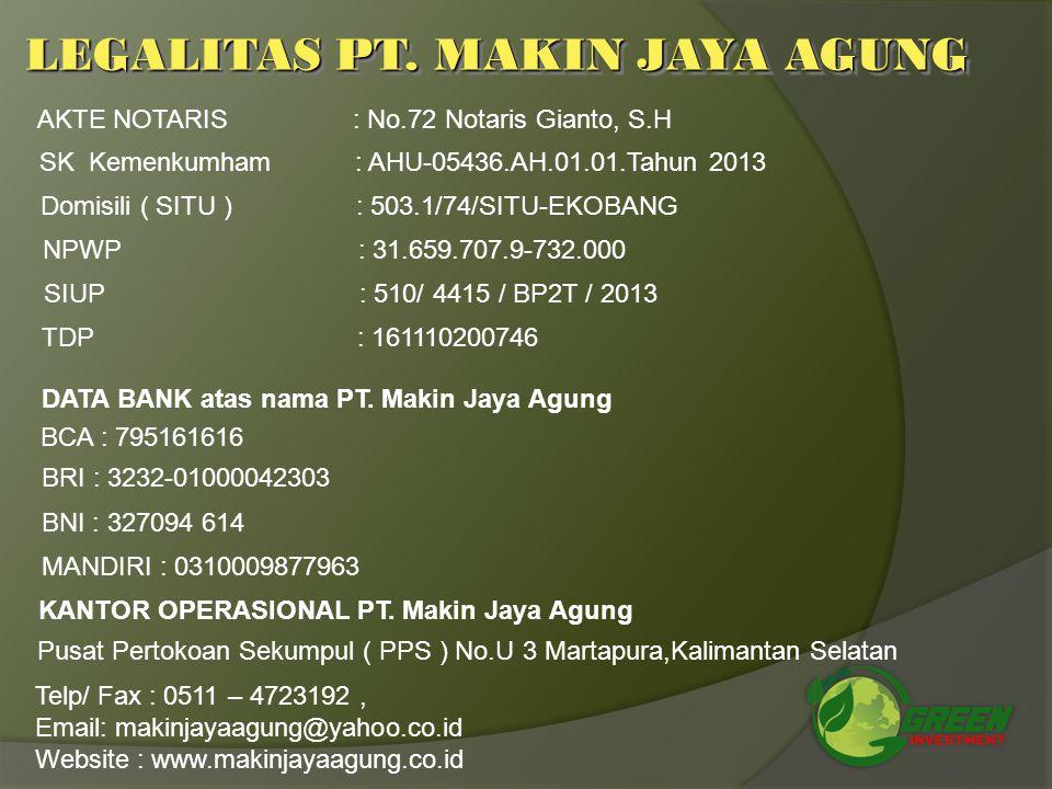 LEGALITAS PT. MAKIN JAYA AGUNG