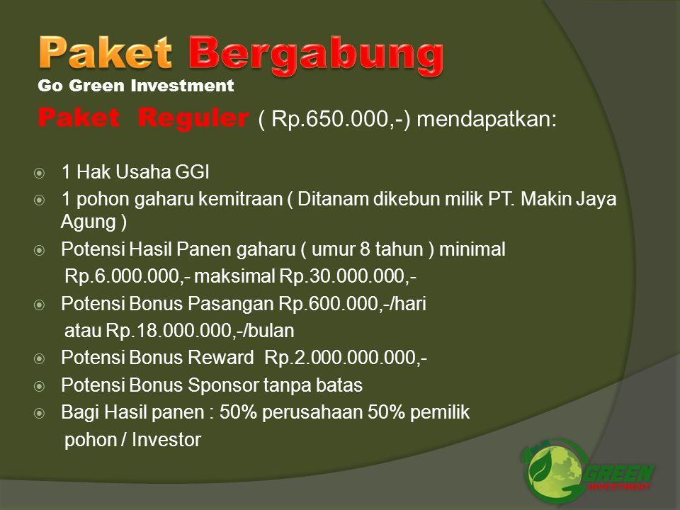 Paket Bergabung Paket Reguler ( Rp.650.000,-) mendapatkan: