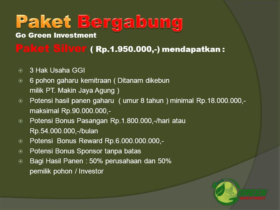 Paket Bergabung Paket Silver ( Rp.1.950.000,-) mendapatkan :