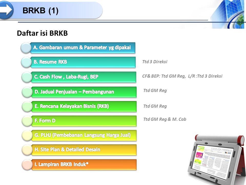 BRKB (1) Daftar isi BRKB A. Gambaran umum & Parameter yg dipakai