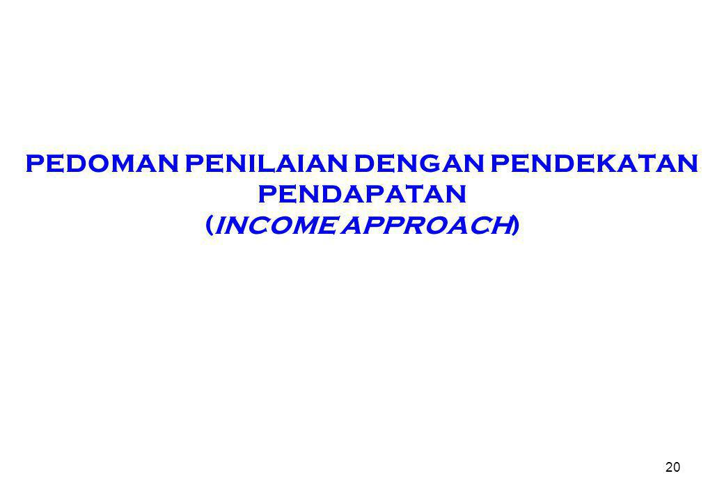 PEDOMAN PENILAIAN DENGAN PENDEKATAN PENDAPATAN (INCOME APPROACH)