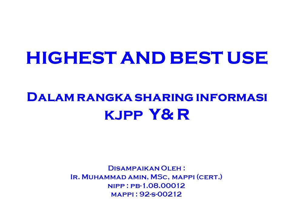 Dalam rangka sharing informasi KJPP Y& R