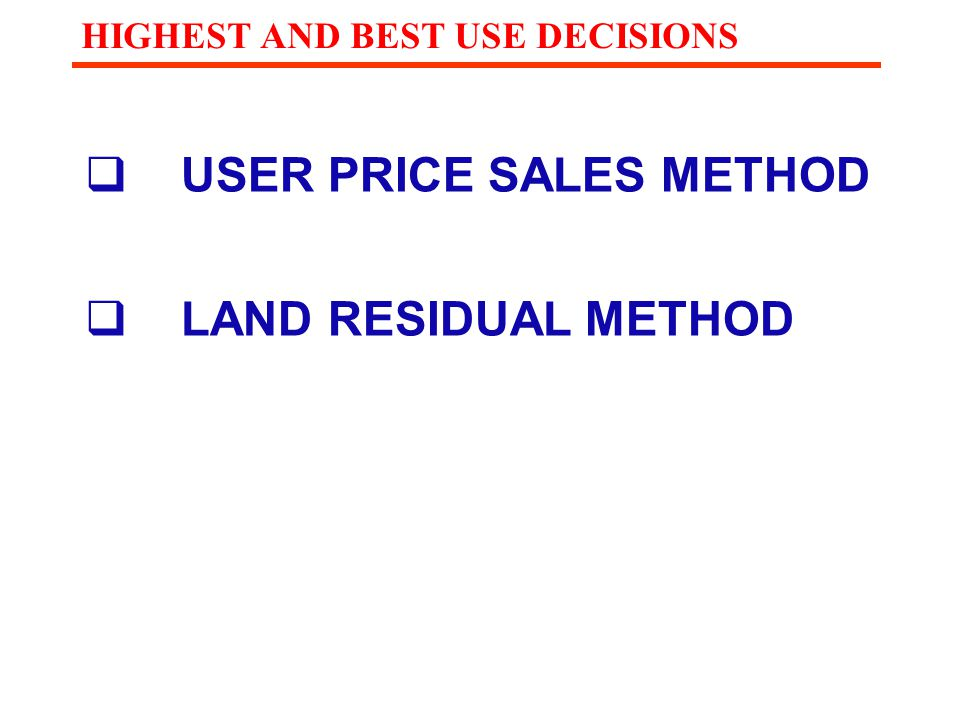 USER PRICE SALES METHOD
