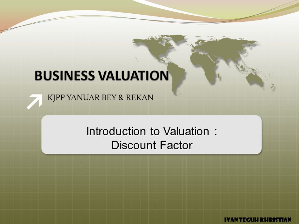 Introduction to Valuation :